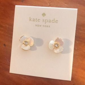 Brand new Kate Spade disco pansy earrings